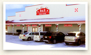 B and B Farm Store in Jesup, Iowa