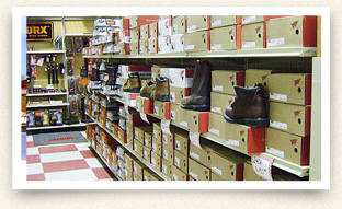 B and B Farm Store in Jesup, Iowa offers power tools, shoes and apparel